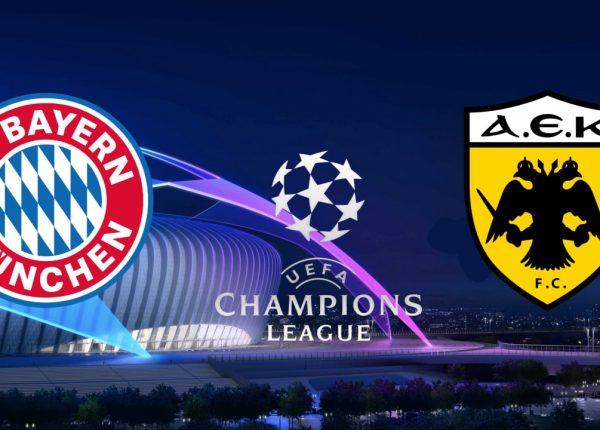 Bayern Munich vs AEK Athens Champions League